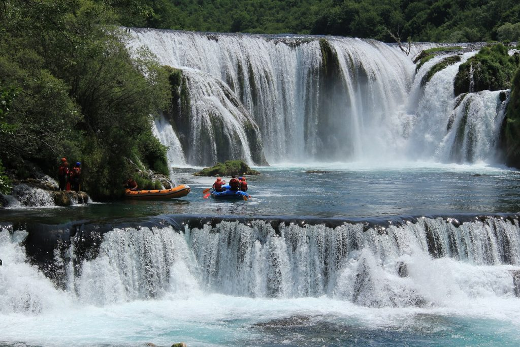 White water rafting in the Balkans.
