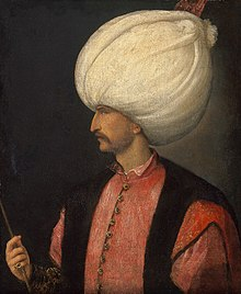 Suleiman in a portrait attributed to Italian painter Titian
