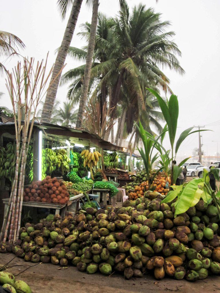 Coconut stand in salalah, oman