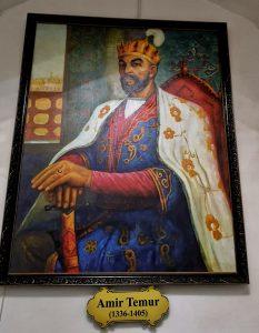 oil painting of tamerlane