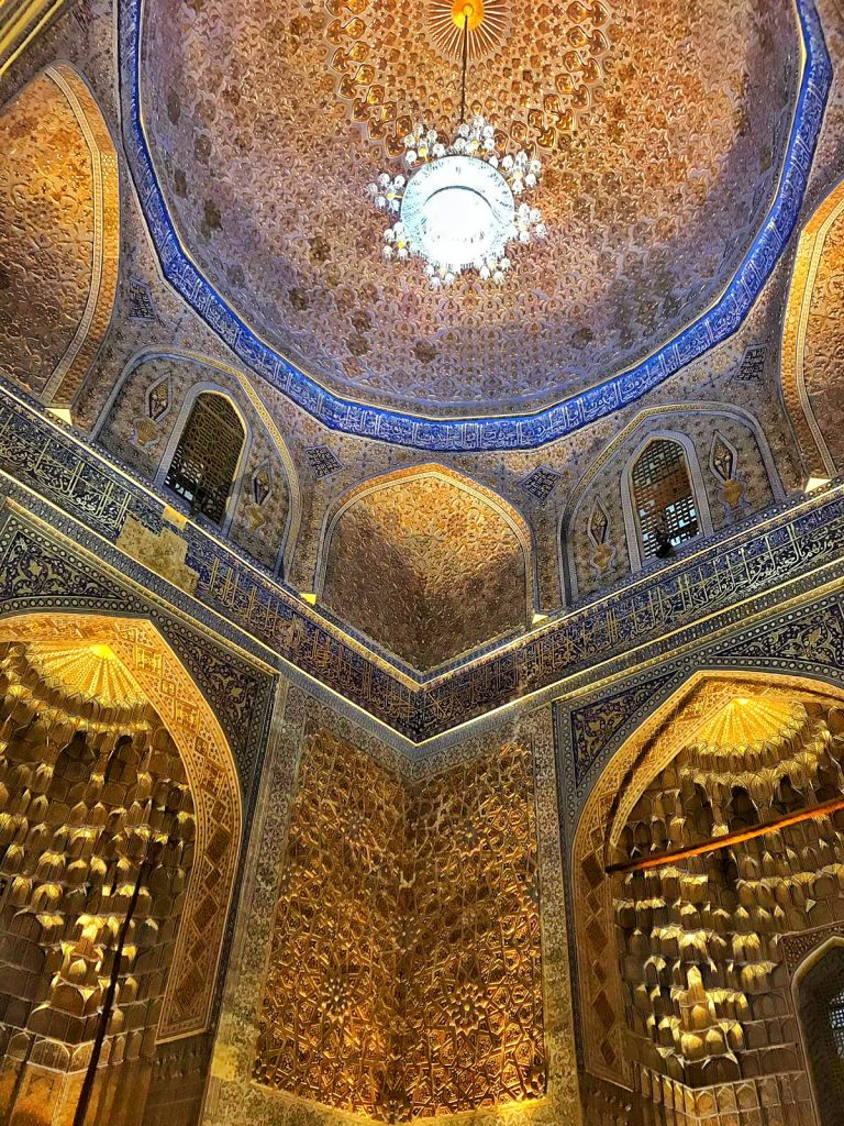 the golden interior of tamerlane's mausoleum
