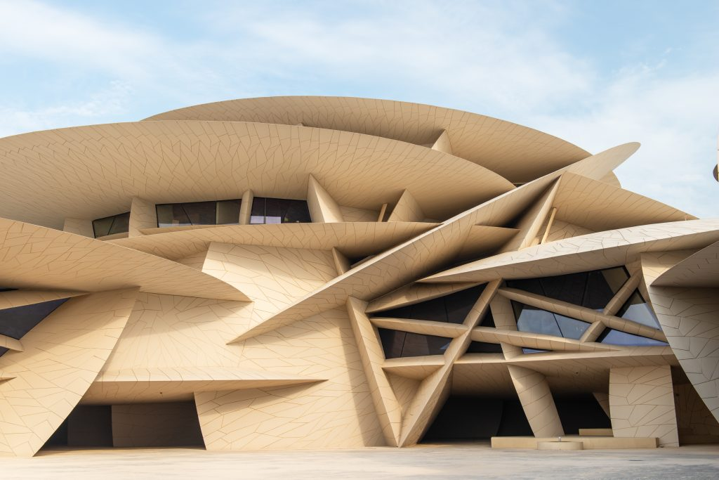 desert rose building in qatar, travel guide to qatar