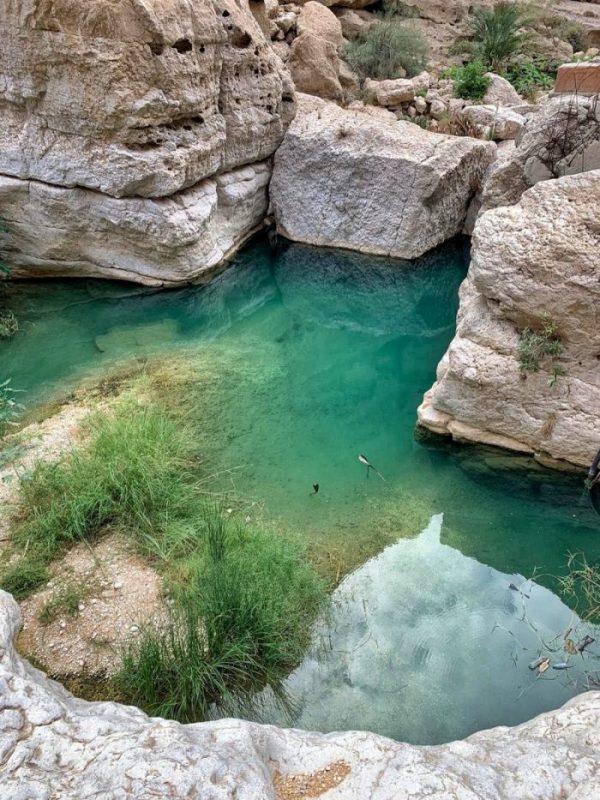 wadi shab oasis oman halal travel oman natural beauty spots