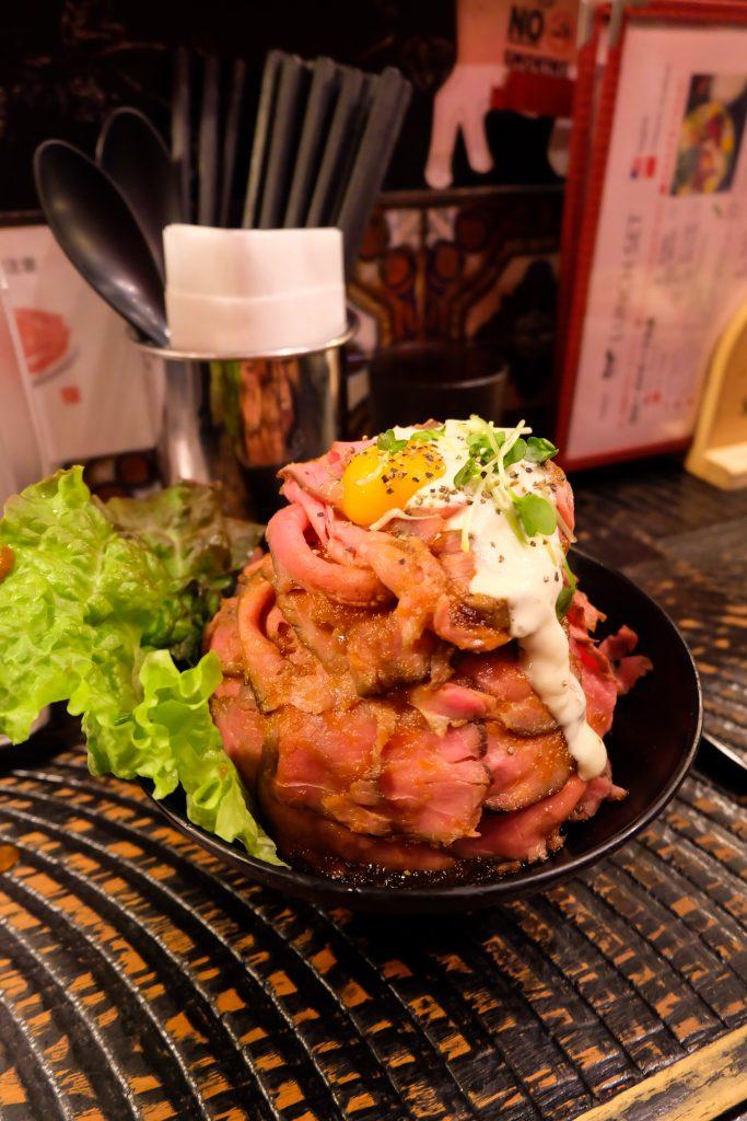 Beef bowl Red Rock in Shibuya Tokyo
